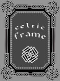 Celtic frame an element of design Stock Photography