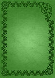 Celtic frame - green. St. Patrick's Day frame. Celtic ornament framing on ancient paper background Royalty Free Stock Photography