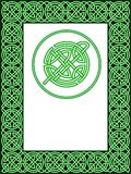 Celtic frame pattern Stock Photos
