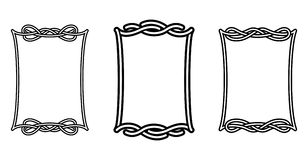 Celtic frames. Illustration in vector Royalty Free Stock Image