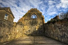 Celtic Friary Detail, HDR image Royalty Free Stock Photos