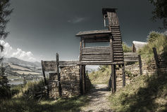 Celtic gateway at Havranok - Slovakia. Celtic gateway at open-air musem Havranok - Slovakia stock image