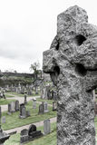 Celtic grave stone on a graveyard Royalty Free Stock Photos