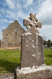 Celtic gravestone ruins Royalty Free Stock Photo