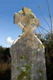 celtic gravestonekyrkogårdtemplemichael Fotografering för Bildbyråer
