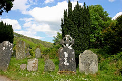 Celtic Gravestones. In Glendalough Royalty Free Stock Image