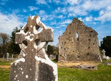Celtic graveyard ruins Stock Image
