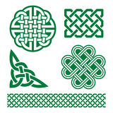 Celtic green knots, braids and patterns - St Patrick's Day in Ireland Stock Photos