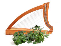 Celtic harp Royalty Free Stock Photo