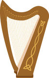 Celtic Harp Royalty Free Stock Photography