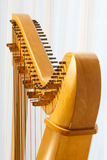 Celtic harp close-up with angle Stock Photography