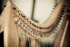 Celtic Harp detail Royalty Free Stock Photos