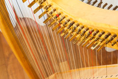 Celtic harp view from top Stock Images