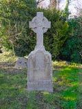 Celtic head stone Stock Image