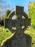 Celtic head stone Royalty Free Stock Photo
