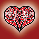 Celtic heart. Design celtic heart Royalty Free Stock Photos