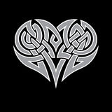 Celtic heart Stock Photo
