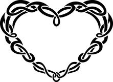 Celtic Heart Border Royalty Free Stock Photo