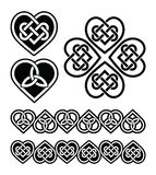 Celtic heart knot -  symbols set Stock Photos