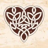 Celtic heart ornament. Vector Celtic national ornament heart shape on beige background vector illustration