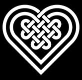 Celtic heart shape knot vector illustration Stock Photos