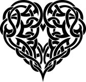 Celtic Heart Tattoo Stock Image