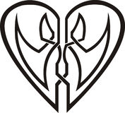 Celtic heart - tribal tattoo Royalty Free Stock Image