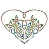 celtic hjärtastil Arkivbild
