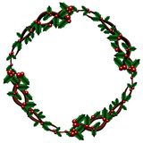 Celtic Holly wreath Stock Images