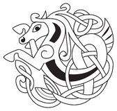 Celtic horse. Unicorn Symbol. Great for tattoo or artwork Royalty Free Stock Photography