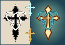 Celtic illuminated cross Royalty Free Stock Photo