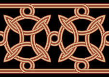 Celtic Interlaced Border. Traditional Celtic Interlaced Horizontal Border Stock Photography