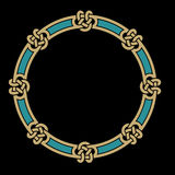 Celtic Interlaced Frame. Traditional Circle Celtic Interlaced Frame Royalty Free Stock Photo