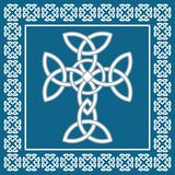 Celtic irish cross,symbolizes eternity,vector illustration. Celtic cross, symbolizes eternity,vector illustration Stock Photography