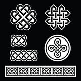 Celtic Irish patterns and braids on black background Royalty Free Stock Photography