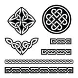 Celtic Irish patterns and braids - vector, St Patrick's Day Stock Photo