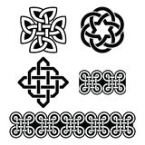 Celtic Irish patterns and knots - , St Patrick's Day. Set of traditional Celtic symbols, knots, braids in black and white Stock Photo