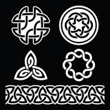 Celtic Irish patterns and knots - vector, St Patrick's Day Royalty Free Stock Image