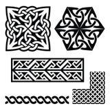 Celtic Irish and Scottish patterns - knots, braids, key patterns Stock Photo