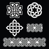 Celtic Irish white patterns and knots - St Patrick's Day Stock Photo