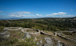 Celtic Iron Age Hill Fort, Monte do Facho, Galicia, Spain Royalty Free Stock Photo