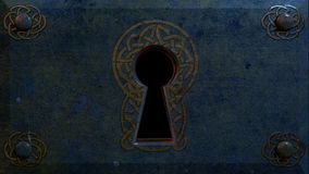Celtic Keyhole. A fantasy Celtic inspired key hole Stock Illustration
