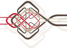 Celtic_knot_01 royaltyfri illustrationer