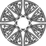 Celtic knot #13. Vector image of celtic knot Stock Photo