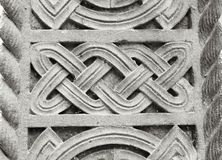 Celtic knot. Carved in stone in close up Royalty Free Stock Photo
