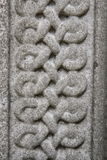 Celtic knot. Carved in stone in close up Royalty Free Stock Images