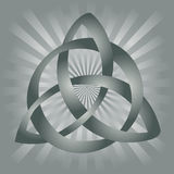 Celtic Knot. Illustration of gray celtic knot on silvery gray background Stock Images