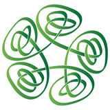 Celtic Knot. Illustration of green celtic knot on white background Stock Illustration