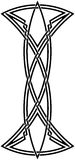 Celtic knot #55. Vector image of celtic knot Stock Photos