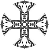 Celtic knot #56. Vector image of celtic knot Stock Images